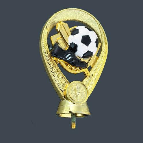 Fussball Figur Gold / Ball Weiss  100mm