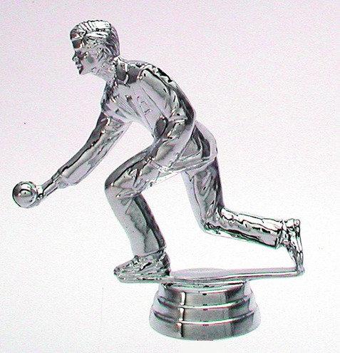 Kegeln Figur Silber 103mm