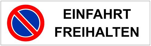 Parkverbot Schild Einfahrt Freihalten 1 Symbol