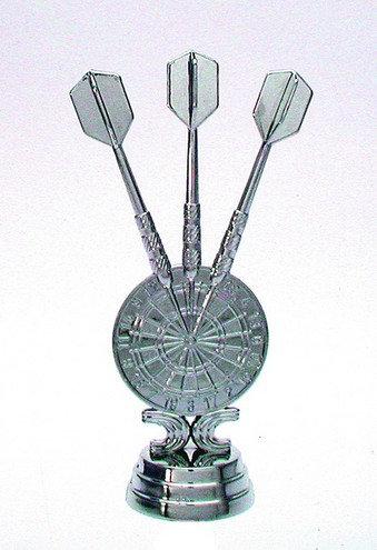 Dart Pfeile und Scheibe Silber 121mm