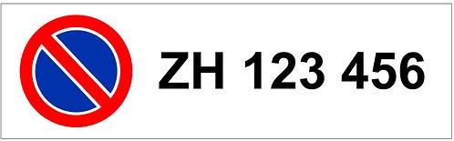 Parkverbot Schild Autonummer 1 Symbol