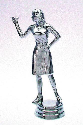 Dart Figur weiblich Silber 129mm