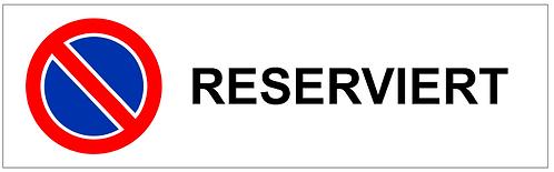 Parkverbot Schild Reserviert 1 Symbol