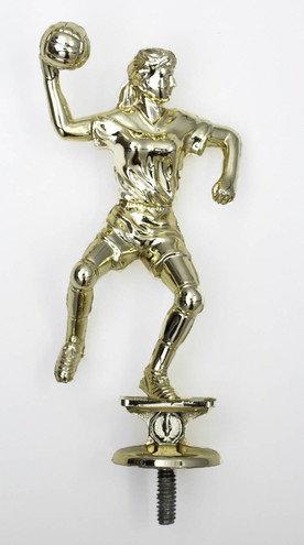 Handball Figur Dame Gold 134mm