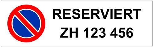 Parkverbot Schild Reserviert Autonummer 1 Symbol