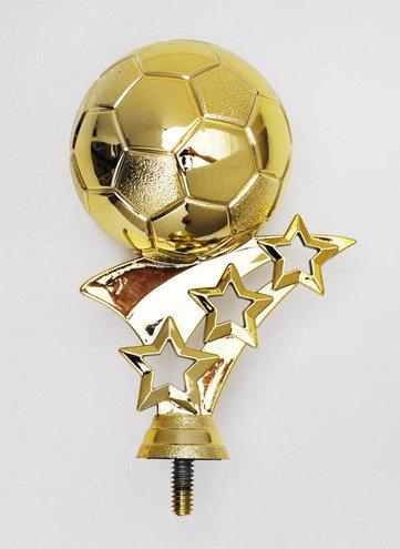 Fussball mit 3 Sterne Gold  71mm / 113mm