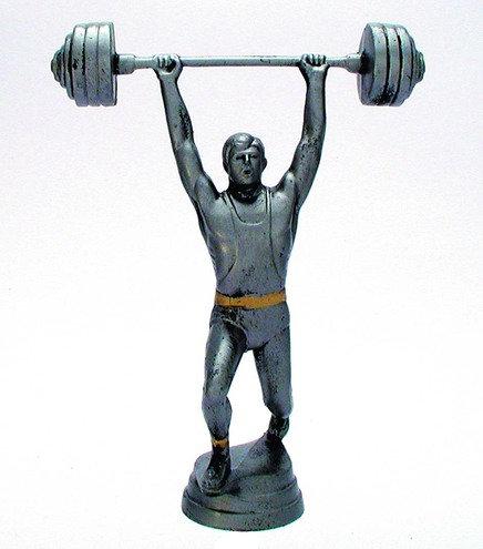 Gewicht Heben Figur Resin 152mm