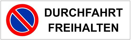 Parkverbot Schild Durchfahrt Freihalten 1 Symbol
