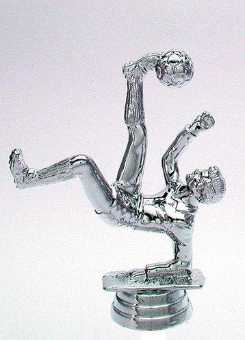 Fussball Figur Silber 123mm