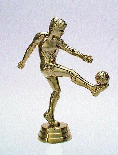 Fussball Figur Gold 125mm