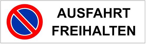 Parkverbot Schild Ausfahrt Freihalten 1 Symbol