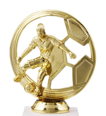 Damen Fussball Figur Gold 127mm