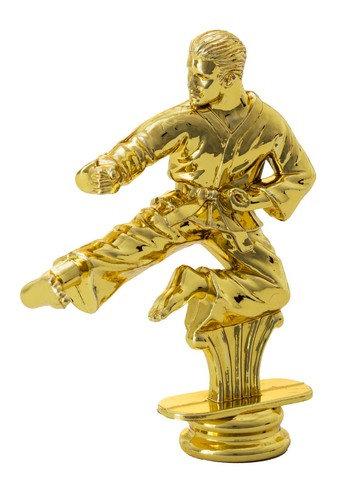 Karate Kämpfer Gold 114mm