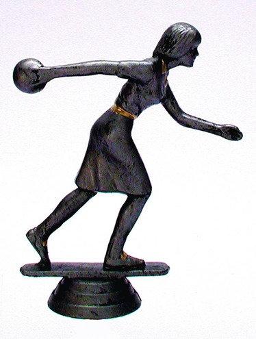 Bowling Figur Resin männlich 107mm