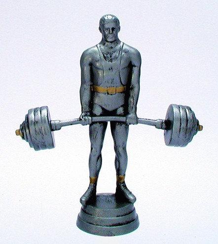 Gewicht Heben Figur Resin 125mm