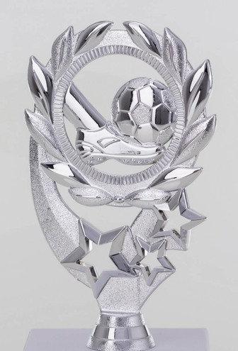 Fussball Figur Silber  140mm