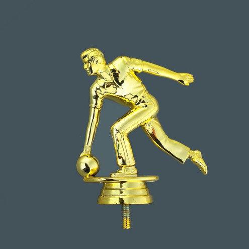 Bowling Figur Gold männlich 100mm