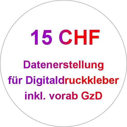 Datenerstellung für Digitaldruckkleber