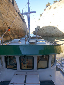 Corinth canal looking to stern
