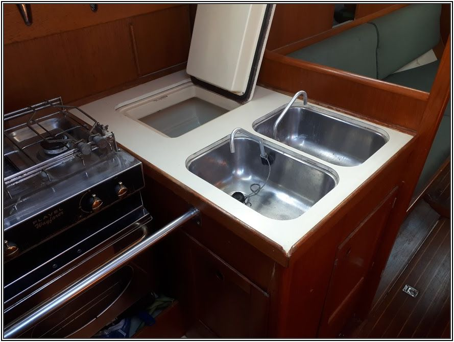 galley top and fridge