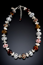 BLN123 Safari Animal Print Necklace