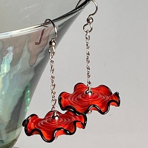 E001 Ruffle Bead Earrings