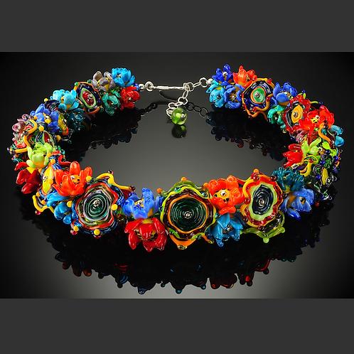 N101 Flower Garden Necklace Full