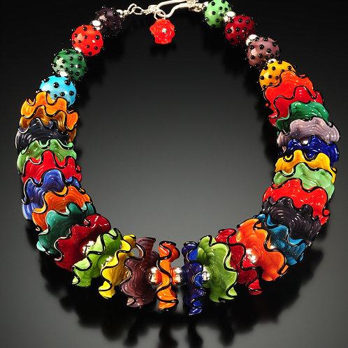 N001 Ruffle Bead Full Necklace