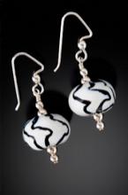 N022 Zebra Animal Print Earrings