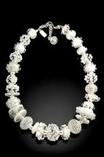 BLN105 Summer Fancy White Necklace