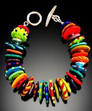 B501 Multicolor Opaque Disc Bracelet