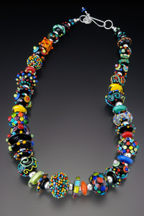 BPN011 Black & Color Hollow Bead Necklace