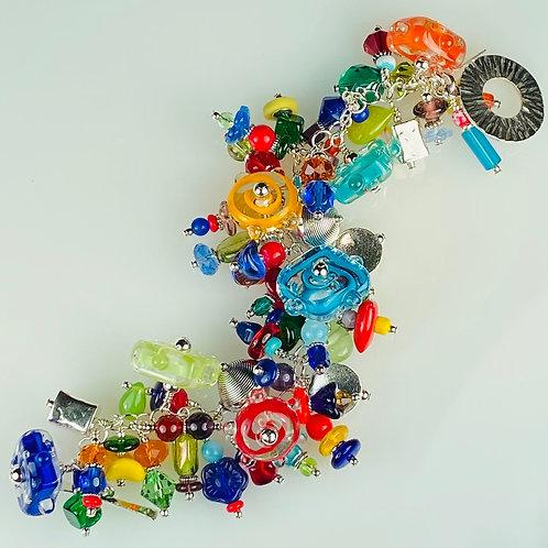 B011 Cha-Cha Bracelet Disc & Flat Filigrana Beads w/Dot Trim