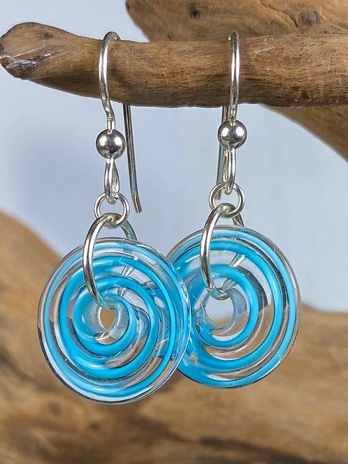 E136 Filigrana Disc Bead Earrings - Turquoise