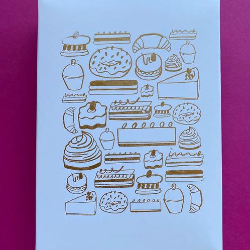 Life, Liberty & The Pursuit of Cake Postcard Set by Helen Hancocks