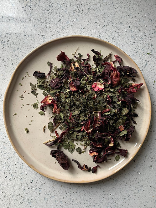 Spice & Green Herbal Tea - Hibiscus Lemon Balm & Lemon Verbena