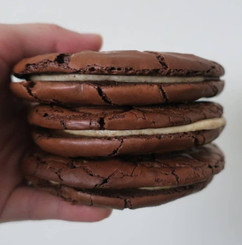 Chocolate and peanut butter cookie sandwiches from our wholesale menu