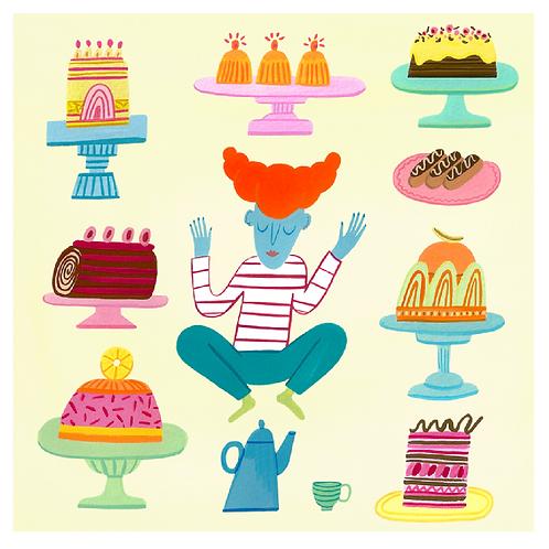 Greetings Card - Cake Dreams