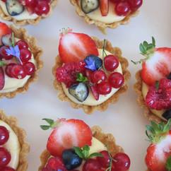 Mini Fruit Tarts for Wedding Dessert Table