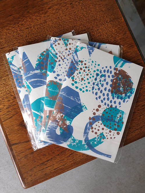 Handmade A5 notebook with screen-printed cover