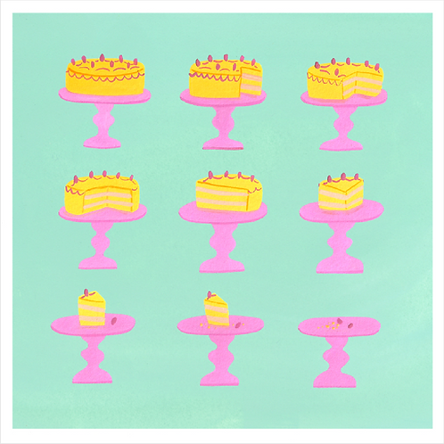 Greetings Card - Disappearing Cake!