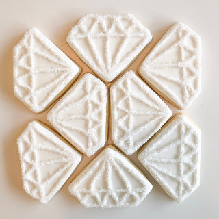 Diamond Anniversary Sugar Cookies