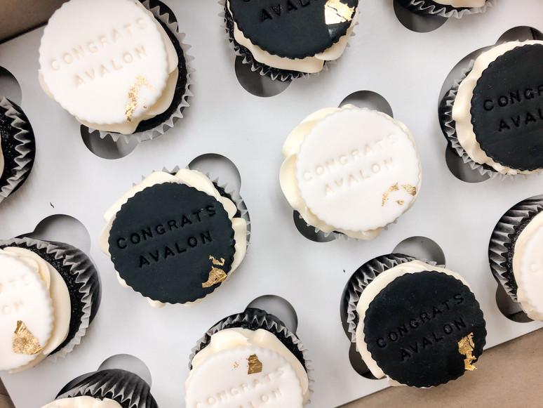 Fondant Embossed Cupcakes