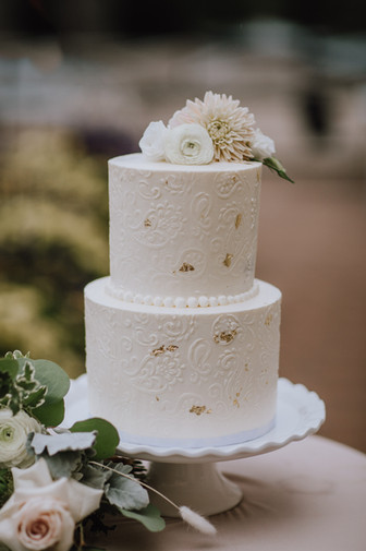 Buttercream Stencil Wedding Cake
