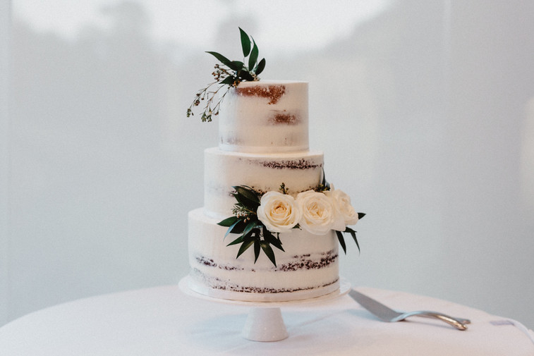 Semi-Naked, Classic, Wedding Cake