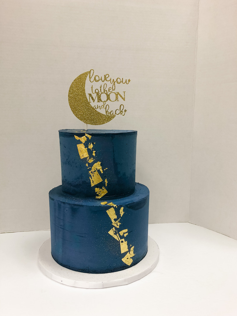 """""""Love you to the Moon and Back"""" Custom Cake Victoria BC"""