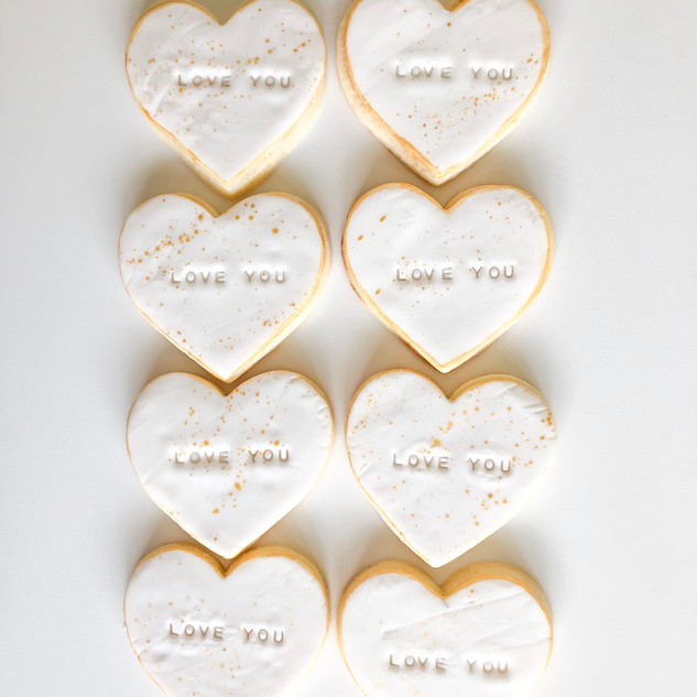 White and Gold Decorated Sugar Cookies