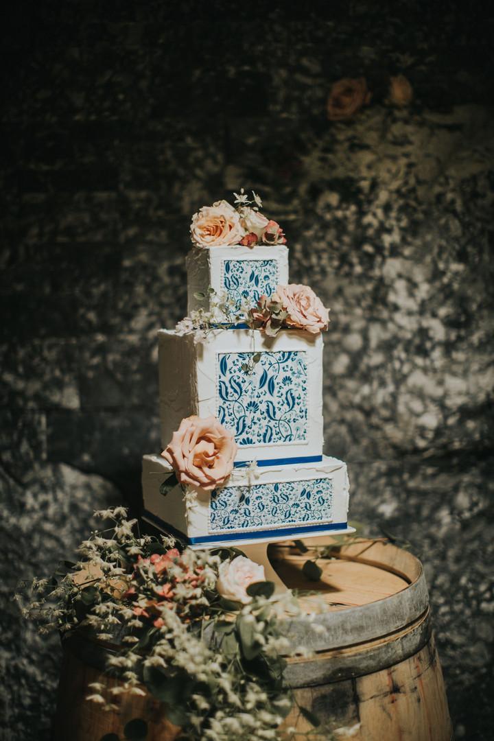 Blue Print Cake Details