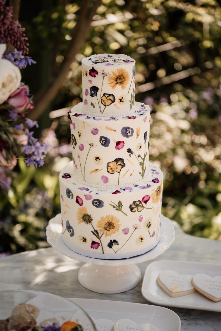 Pressed Flower Cake