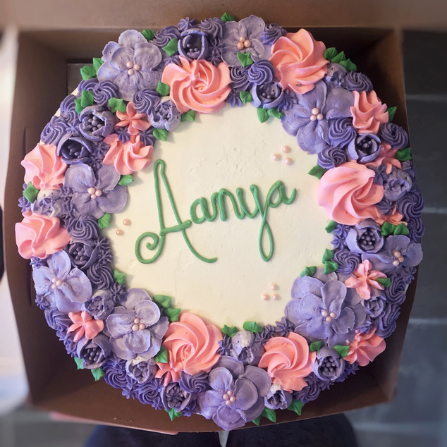 Floral Wreath Cake Vancouver Island BC